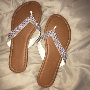 BRAND NEW Bedazzled sandals